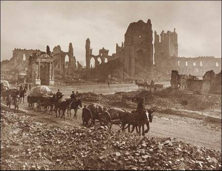 Cloth Hall Ruins � Ypres Belgium