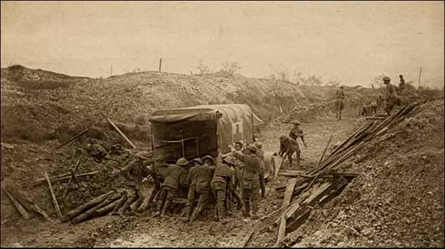 Western Front WW1 Ambulance in Mud
